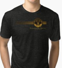 manchester united logo wallpaper Tri-blend T-Shirt