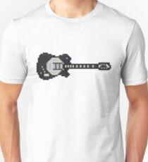 Pixel Black Z Disc Guitar Unisex T-Shirt