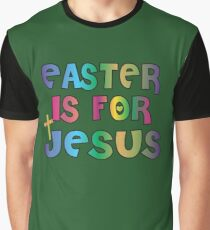 Easter Theme: Happy Easter Shirt For Kids Women Men  Eggs Bunny: Easter Is For Jesus Graphic T-Shirt