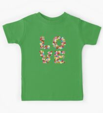 LOVE Spring Flowers in Red Kids Clothes