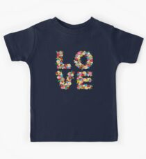 LOVE Spring Flowers | Red Kids Tee
