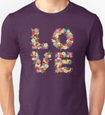 LOVE Spring Flowers in Red T-Shirt