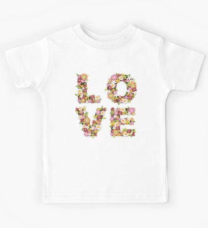 LOVE Spring Flowers   Pink Kids Clothes