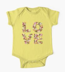 LOVE Spring Flowers in Pink Kids Clothes