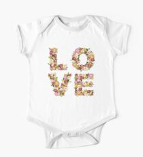 LOVE Spring Flowers   Pink One Piece - Short Sleeve