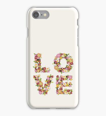 LOVE Spring Flowers | Pink iPhone Case/Skin