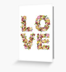 LOVE Spring Flowers | Pink Greeting Card