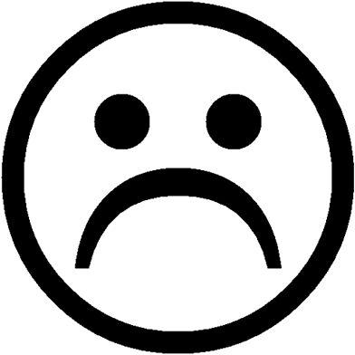 """Sad face Sticker"" Stickers by BasicallyBasic Redbubble"