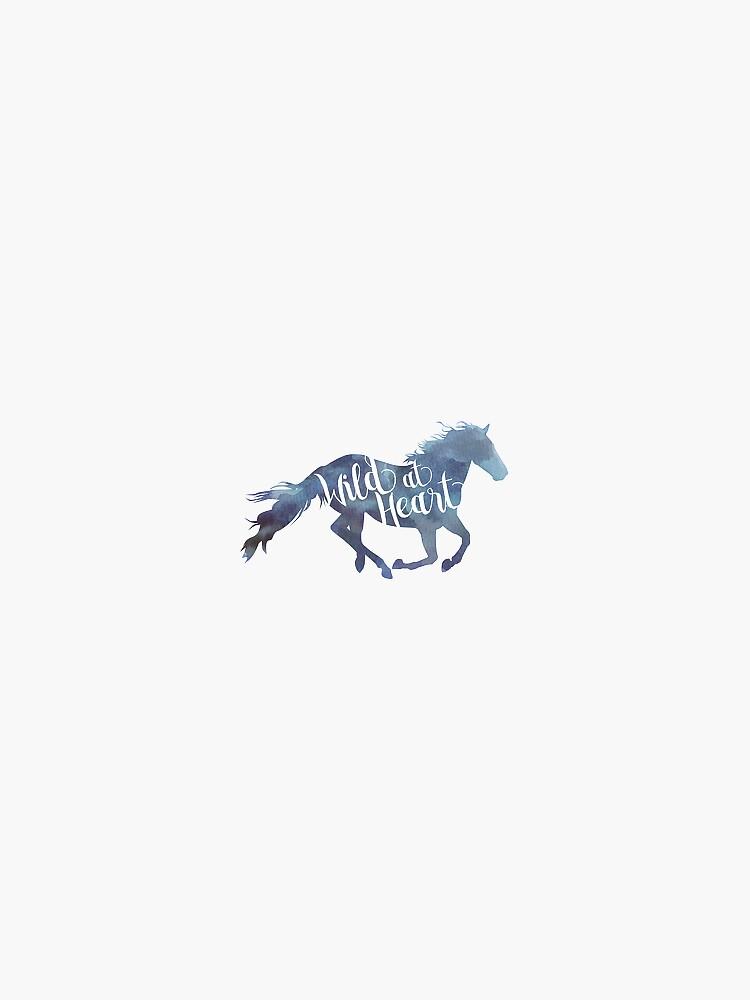 Wildes Pferd Aufkleber von BasicallyBasic
