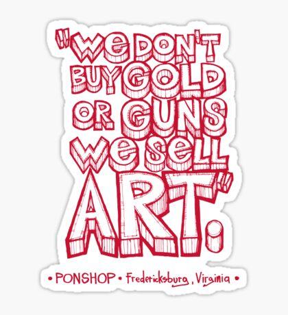 PONSHOP Slogan Sticker