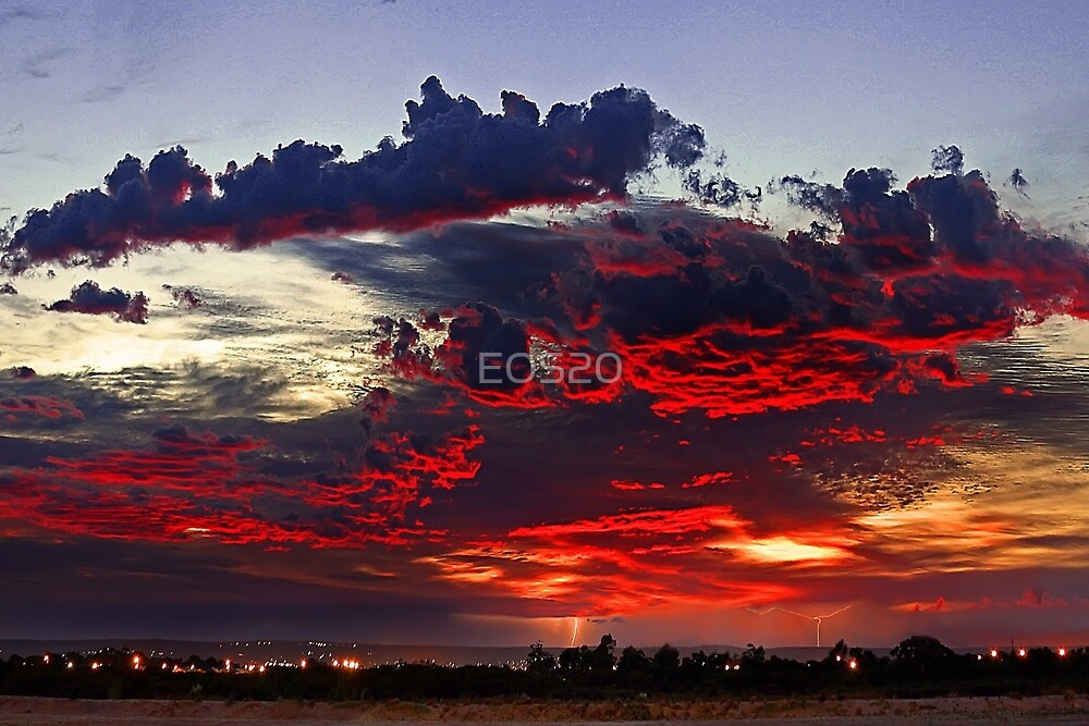 Sunrise Thunderstorm by EOS20