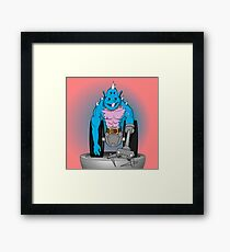 monster with four eyes Framed Print