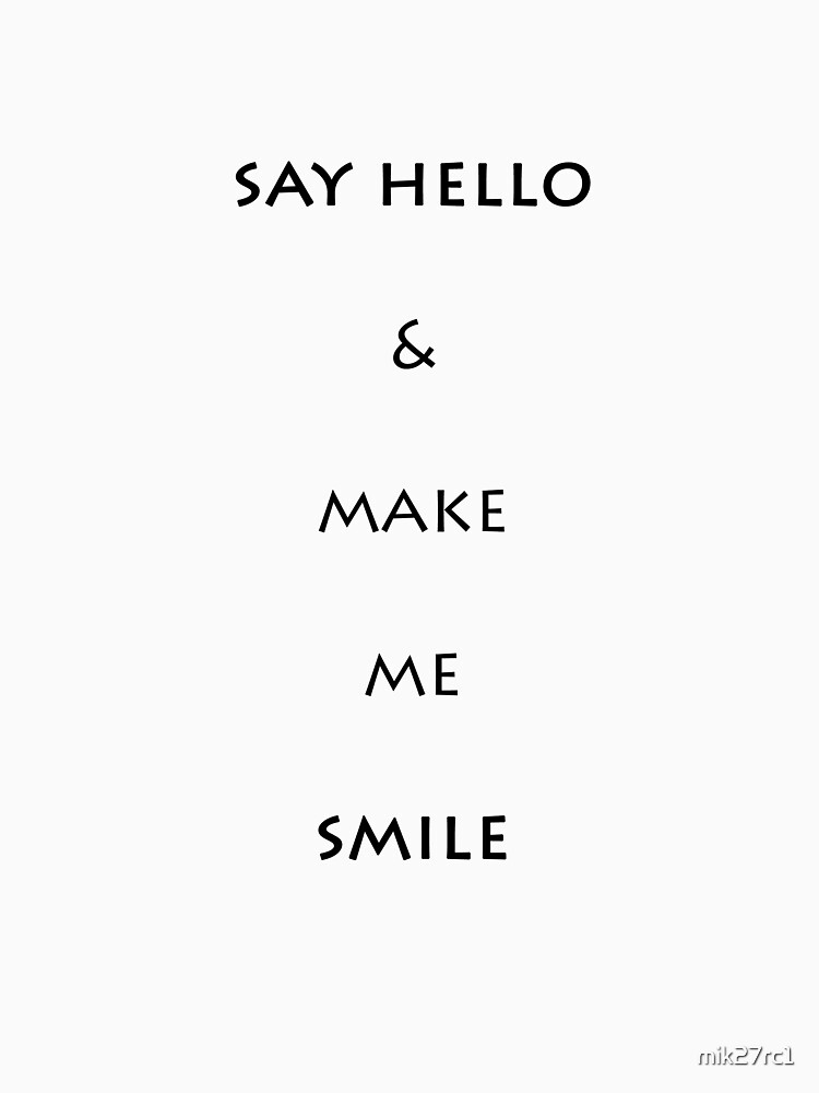 say hello by mik27rc1
