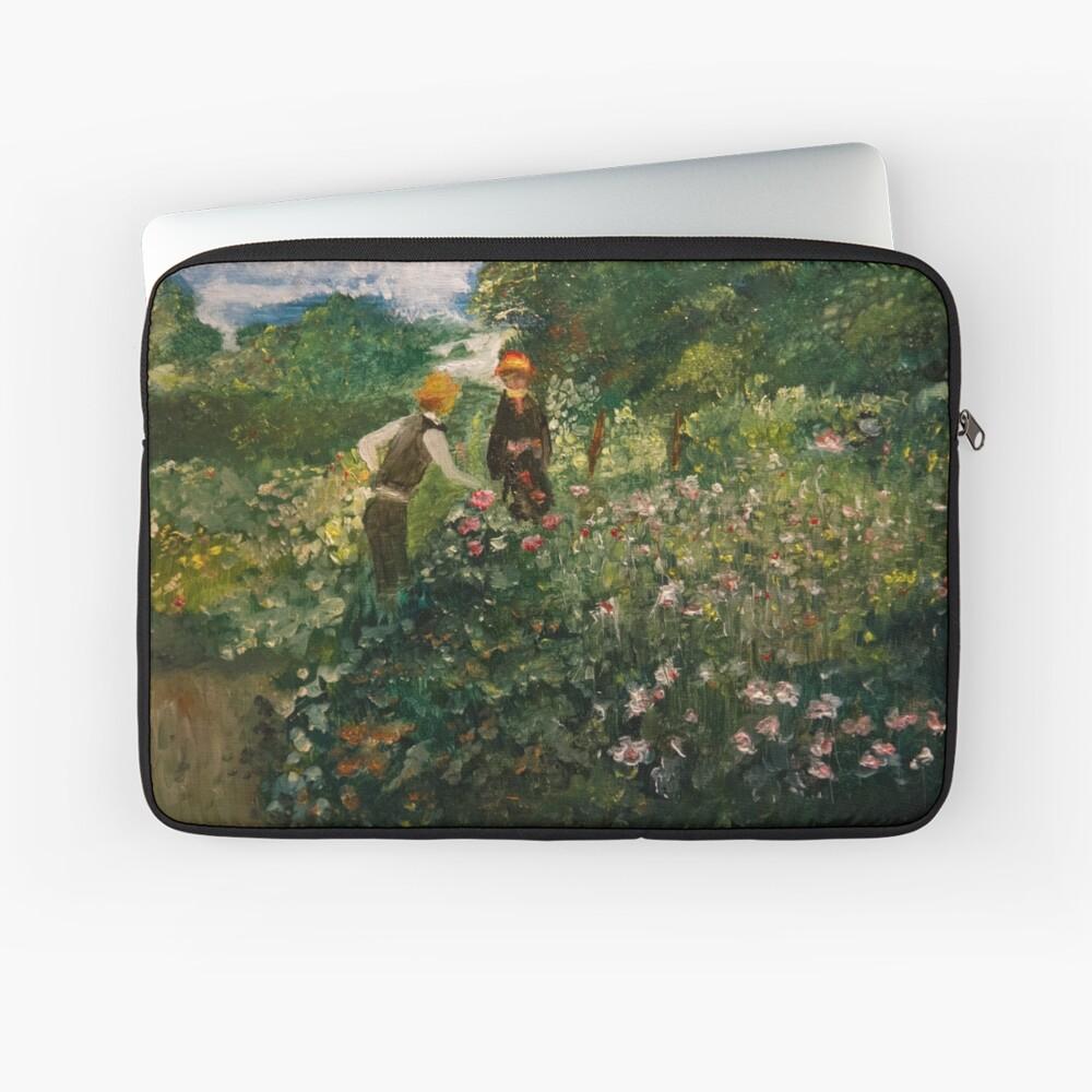 Picking Flowers (after Renoir) Laptop Sleeve