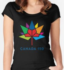 CANADA 150th Women's Fitted Scoop T-Shirt