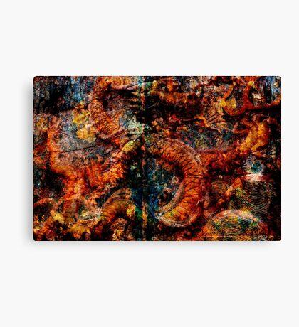 Oxidised Dragon Canvas Print