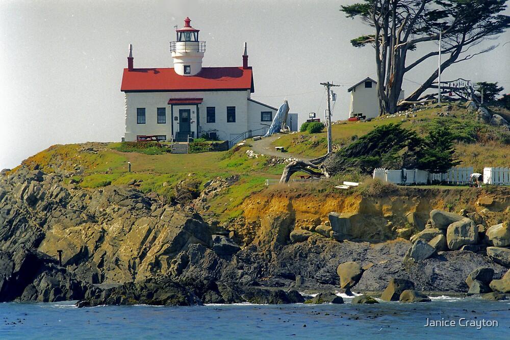 Battery Point Lighthouse Calf. by Janice Crayton