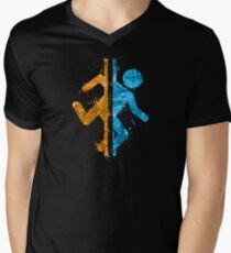 Portal Splatter Men's V-Neck T-Shirt