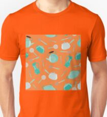 Seamless Pattern with Kitchen Tools Unisex T-Shirt