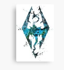 Skyrim Splatter Canvas Print