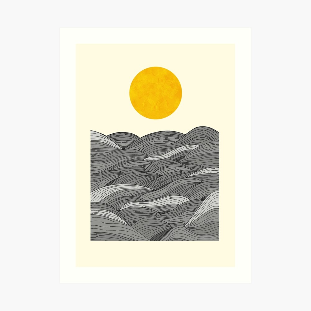 The Grey Waves Art Print