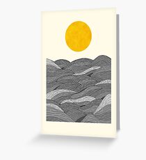 The Grey Waves Greeting Card