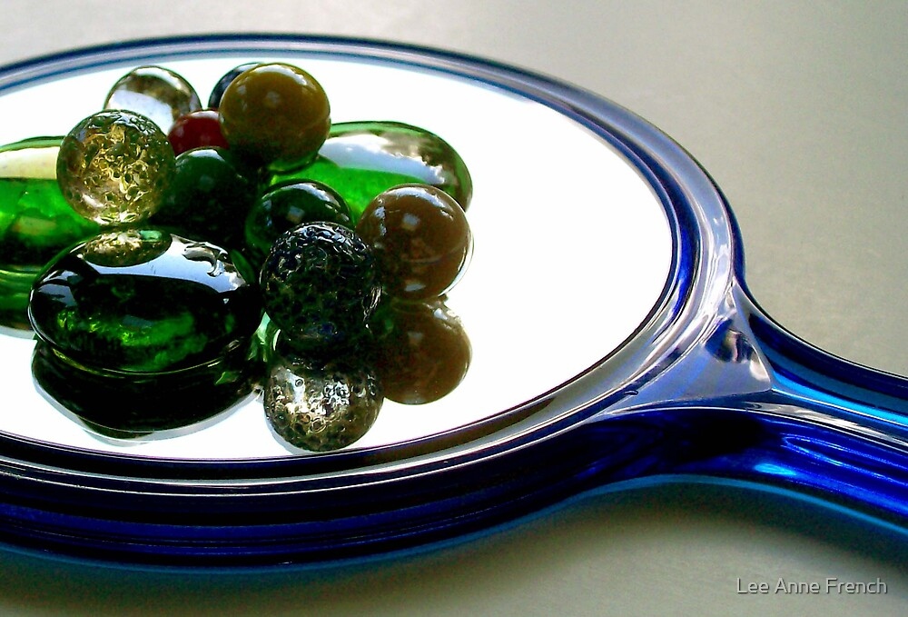 Marbles on a Mirror 1 by Lee Anne French