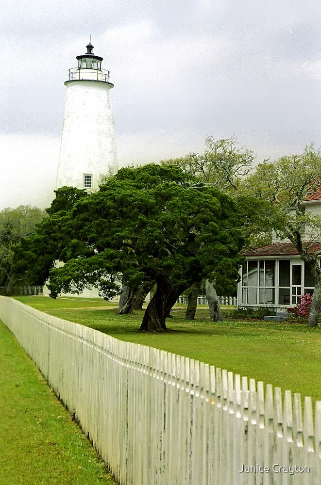 Ocracoke Lighthouse NC by Janice Crayton