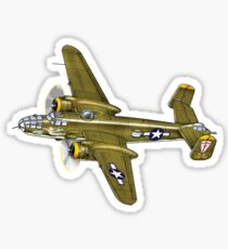 American B-25 Mitchell Bomber Aircraft  Sticker