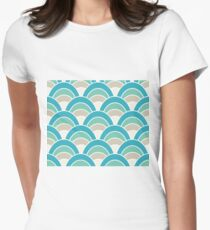 Turquoise Wave Womens Fitted T-Shirt