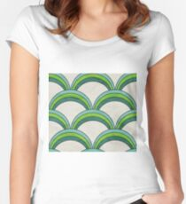 Green Wave Women's Fitted Scoop T-Shirt