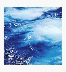 Blue Ocean Water Waves Photographic Print