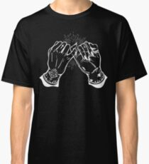 Burning Man - Tattoed Hands Doing a Pinky Promise - Vintage Occult Classic T-Shirt