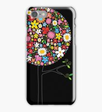 Whimsical Colorful Spring Flowers Pop Trees iPhone Case/Skin