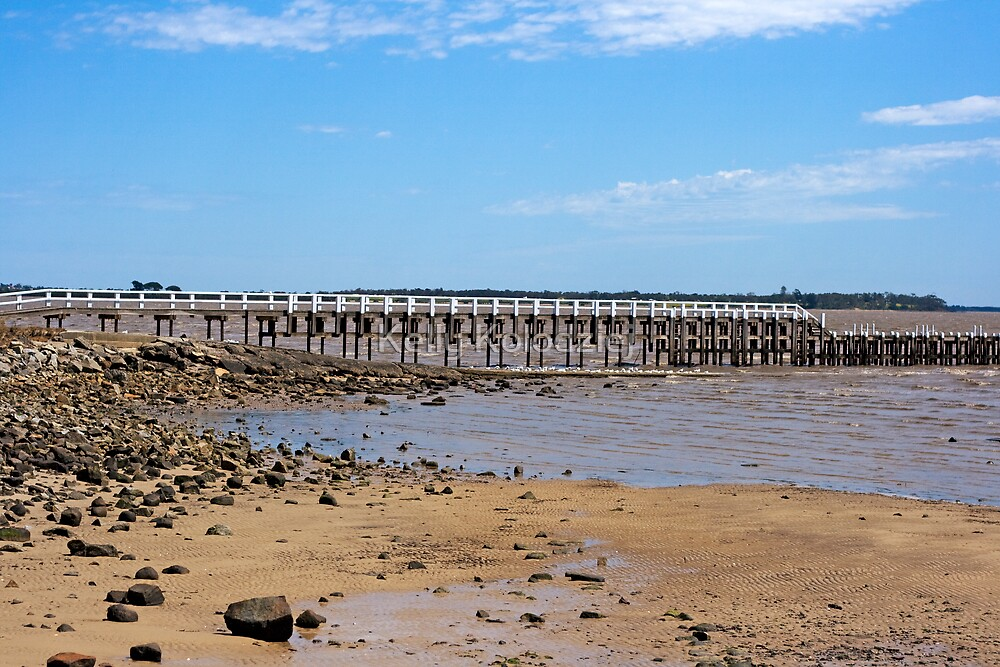 Little Pier with Rocks by Kelly Kolodziej