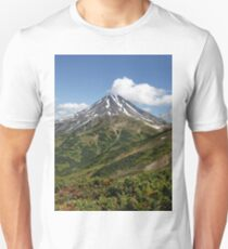 Summer panorama of volcanic landscape in Kamchatka Peninsula Unisex T-Shirt