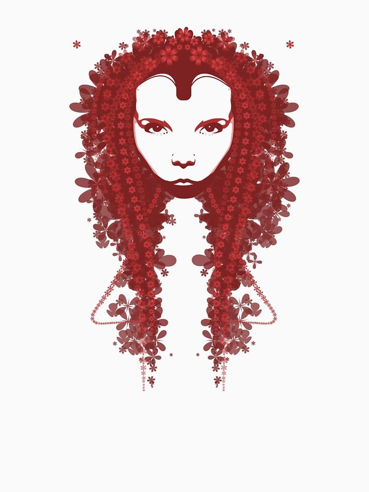 Persephone - Red Tee by bradley