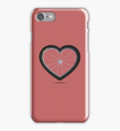 Wheel Love - MTB Red iPhone Case/Skin