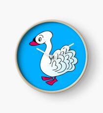 Pretty Swan Clock