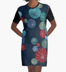 Colorful cactus field Graphic T-Shirt Dress
