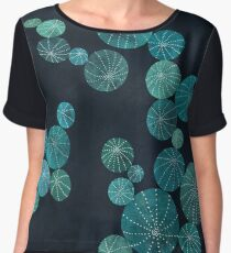 Turquoise cactus field Chiffon Top