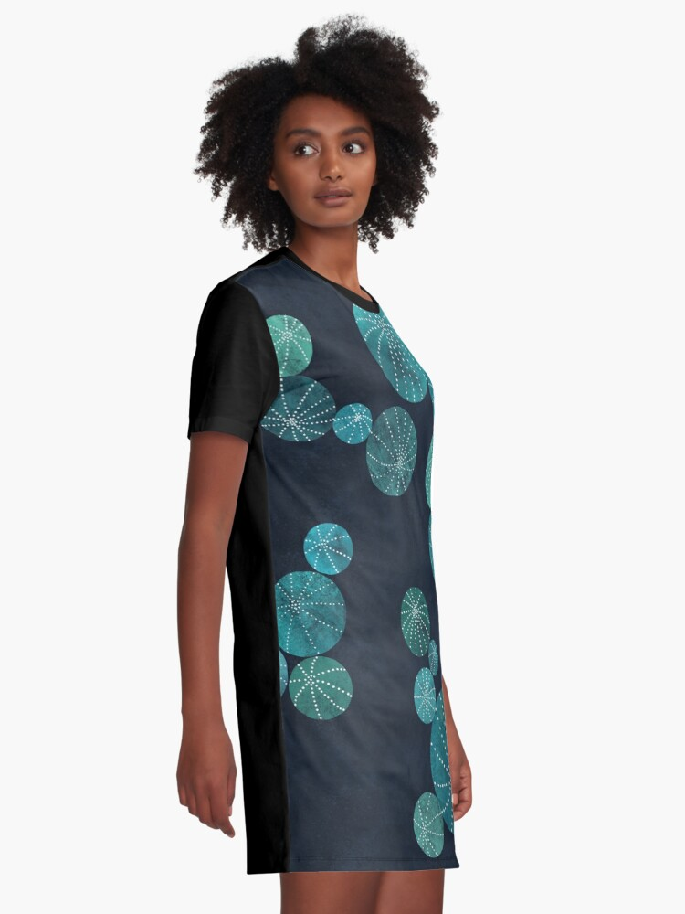 Alternate view of Turquoise cactus field Graphic T-Shirt Dress