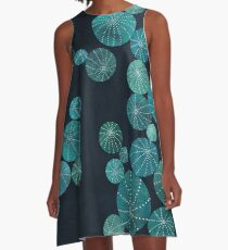 Turquoise cactus field A-Line Dress