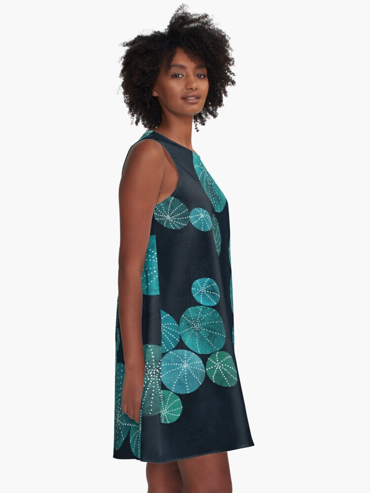 Alternate view of Turquoise cactus field A-Line Dress