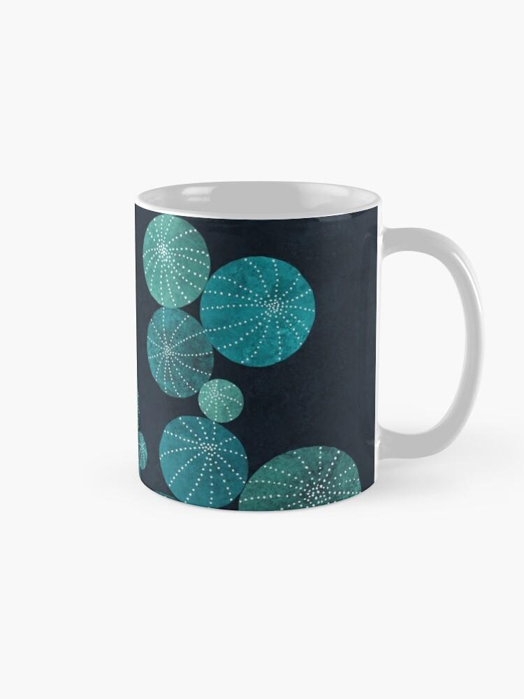 Alternate view of Turquoise cactus field Mug