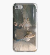 Edgar Degas - The Rehearsal Onstage iPhone Case/Skin