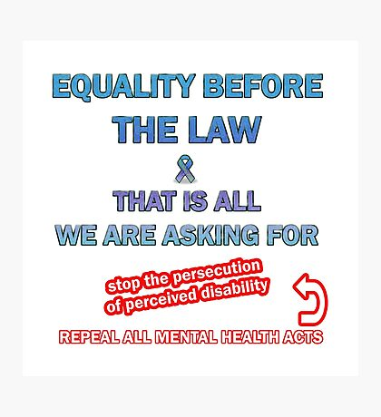 Equality Before the Law Photographic Print