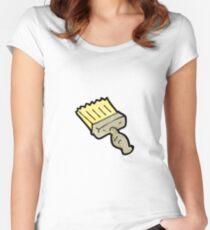 cartoon paint brush Women's Fitted Scoop T-Shirt