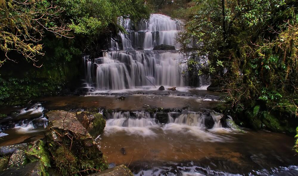 Purukaunui Falls, New Zealand by David James