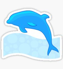 Dolphin on the wave Sticker